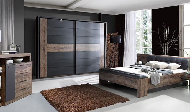 Armoire chambre a coucher armoire chambre adulte pas cher for Chambre complete adulte bois