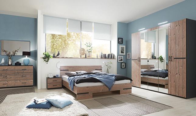 Anna chambre à coucher silver/graphite