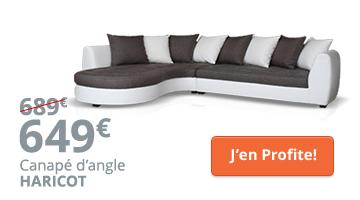Canapé d'angle design tissu