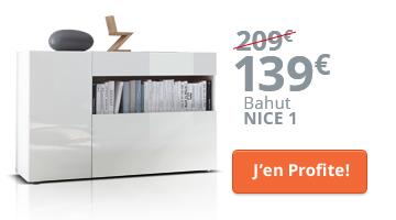 Bahut design blanc en promo