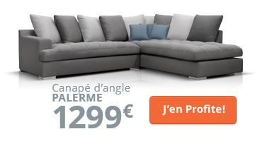 Canapé d'angle moderne