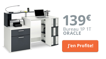 Un bureau d'angle moderne et design