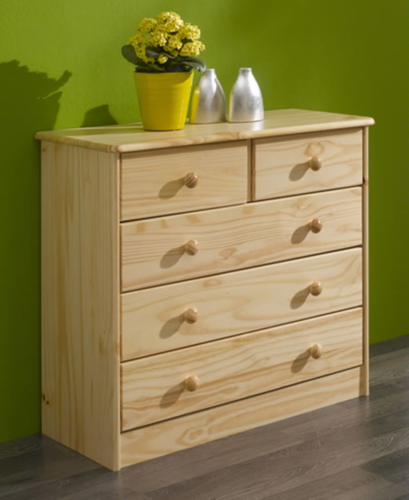 Commode 3 2 tiroirs rondo pin Differents styles de meubles