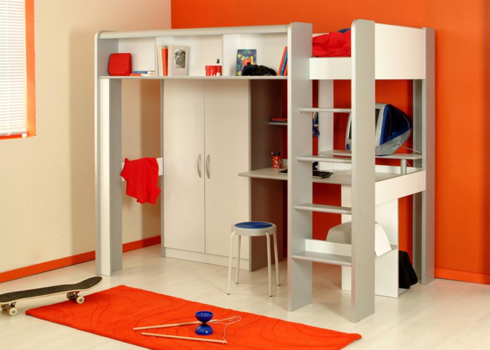 mezzanine space blanc alu. Black Bedroom Furniture Sets. Home Design Ideas