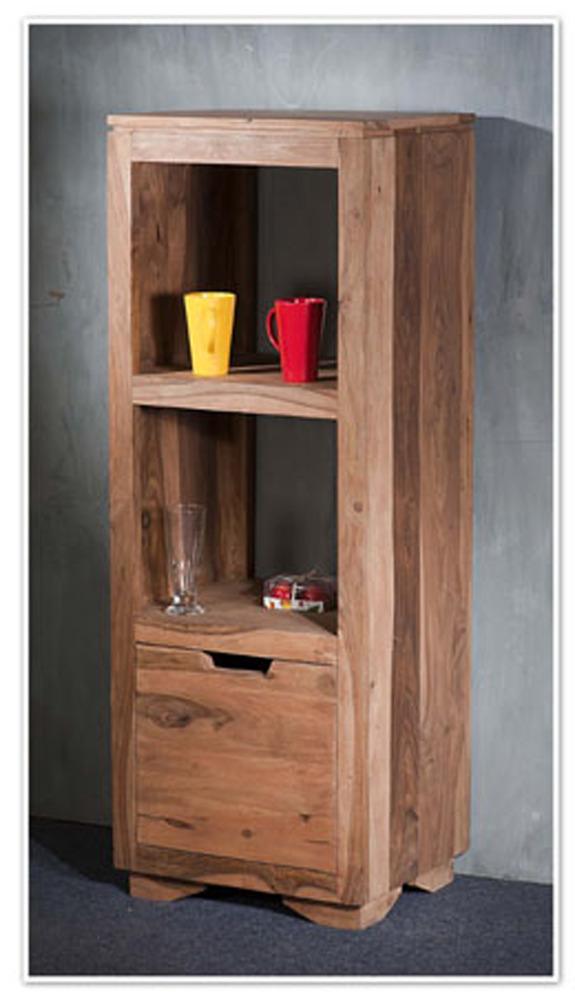 bibliotheque etroite 1 porte naturel saka palissandre naturel. Black Bedroom Furniture Sets. Home Design Ideas