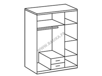 Armoire 3 portes +2 tiroirs Greven