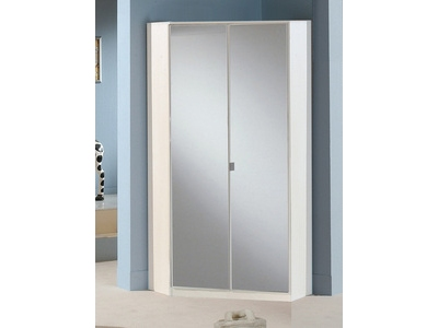 armoire d angle avec miroir greven blanc 139. Black Bedroom Furniture Sets. Home Design Ideas