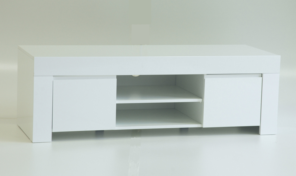 Meuble tv amalfi blanc for Meuble hifi blanc