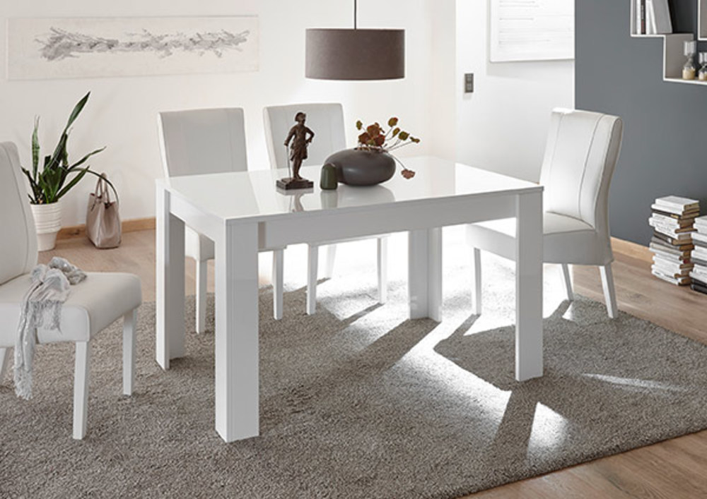 table de repas amalfi turini blanc l 180 x h 76 x p 90. Black Bedroom Furniture Sets. Home Design Ideas