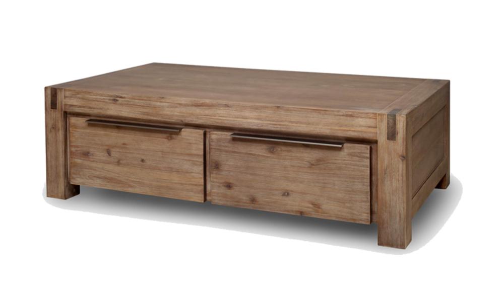 Table basse 4 tiroirs hamburg - Table de salon avec tiroir ...