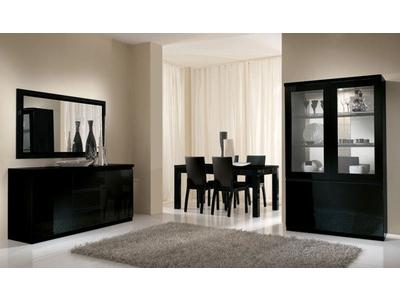 Bahut 3 portes 3 tiroirs Roma laqué noir