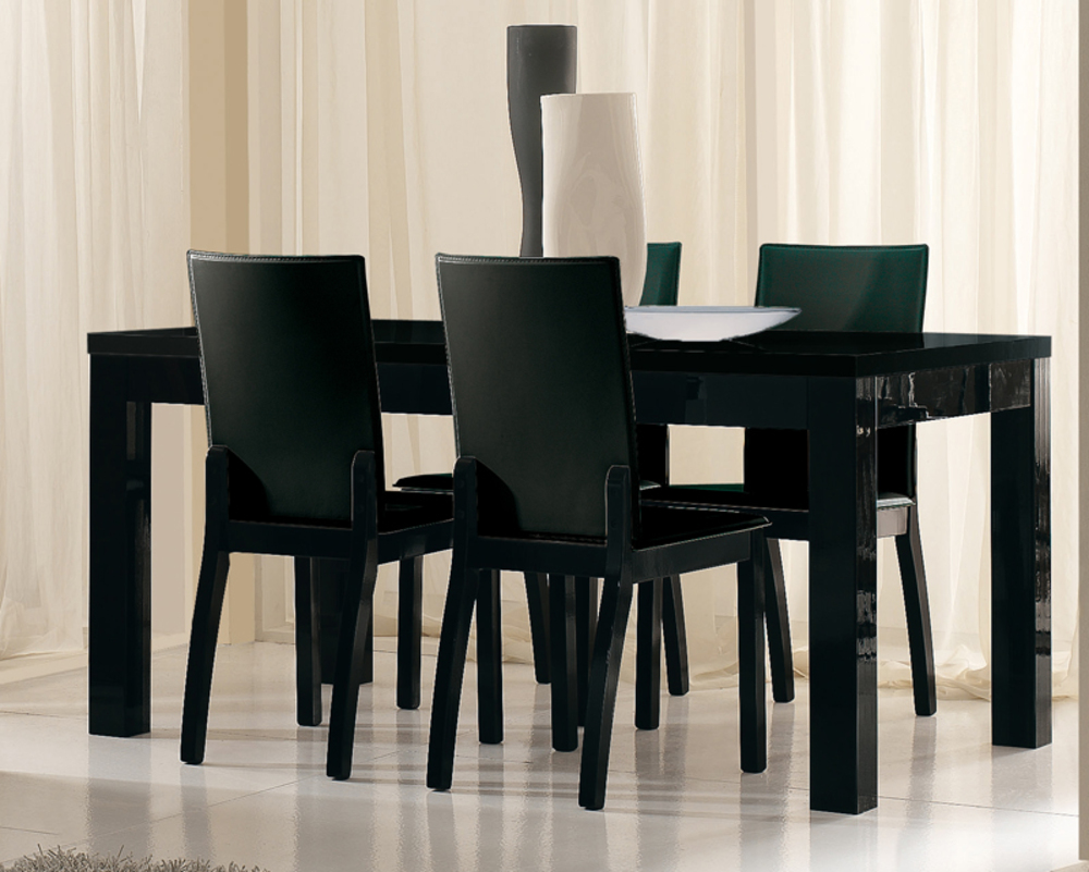 Table A Manger Noire Laquee Et Strass ~ Indogate.com salle a ...