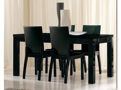 Table de repas Roma laqué noir