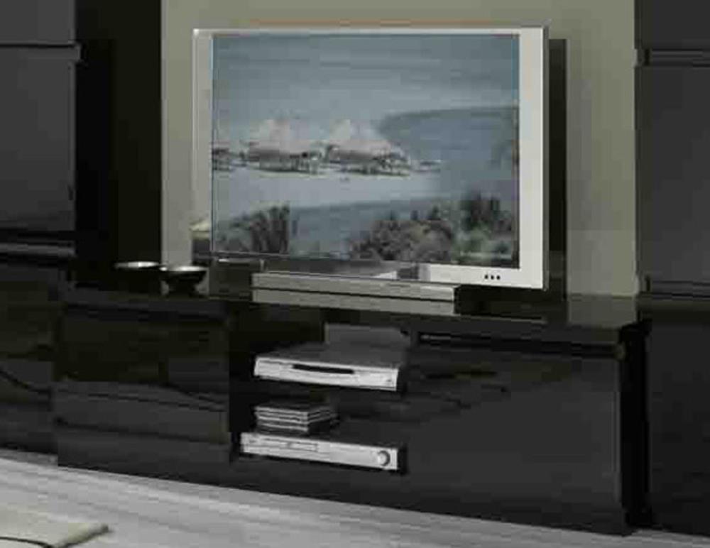 Meuble tv plasma roma laqu noir - Meuble pour television plasma ...