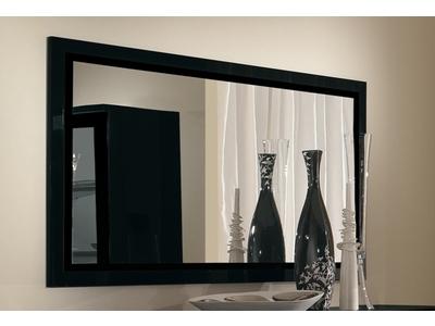 Miroir Roma laqué noir