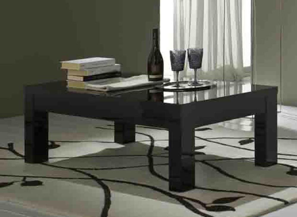 Table basse roma laqu noir - Table salon noire ...