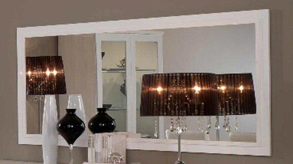 miroir roma laque blanc blanc l 140 x h 85. Black Bedroom Furniture Sets. Home Design Ideas