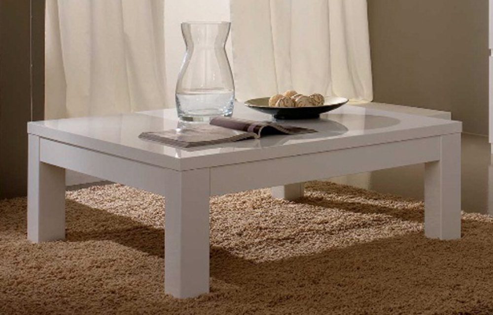 table basse roma laque blanc blanc. Black Bedroom Furniture Sets. Home Design Ideas