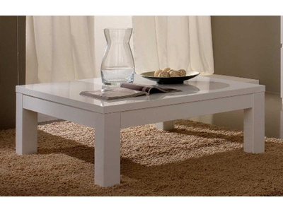 Table basse Roma laque blanc