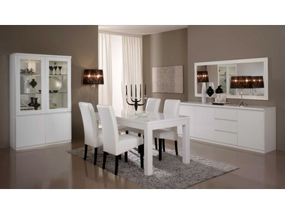 Table de repas Roma laque blanc