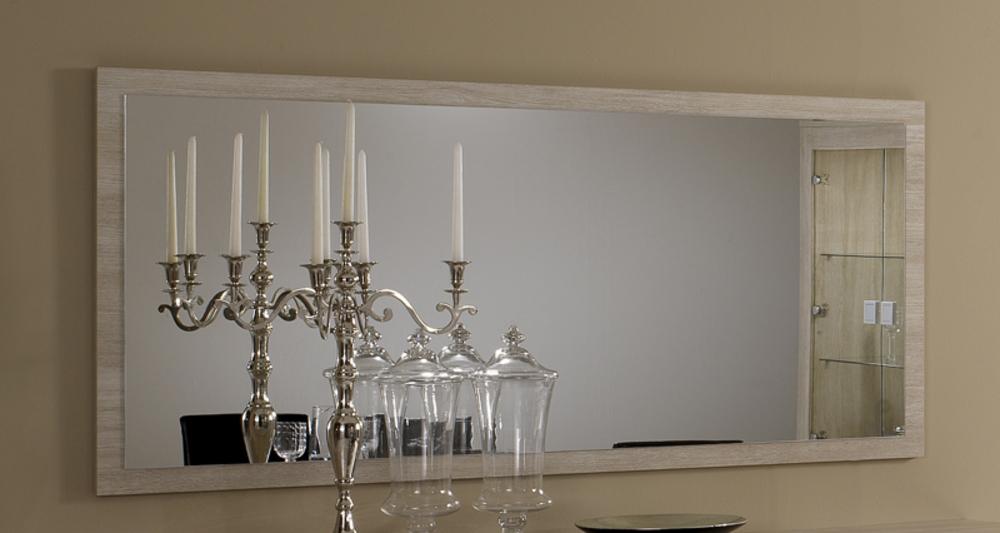 Miroir pisa chene blanchi soho blanchi for Miroir chene