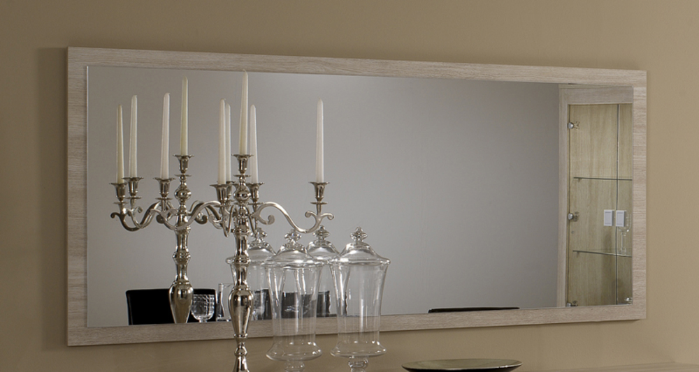 Miroir pisa chene blanchi soho for Miroir quadrilobe blanc