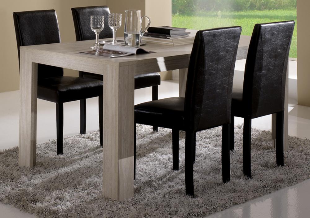 Table de repas pisa chene blanchi soho l 160 x h 77 x p 90 - Table en chene blanchi ...