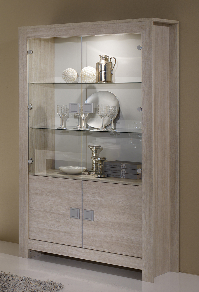 vitrine pisa chene blanchi soho blanchi. Black Bedroom Furniture Sets. Home Design Ideas
