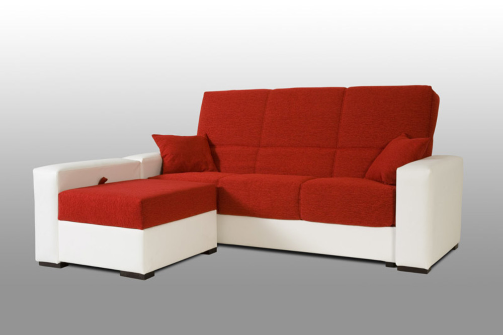 clic clac pouf coffre galia pvc blanc bambu rouge. Black Bedroom Furniture Sets. Home Design Ideas