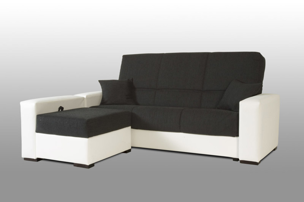 clic clac pouf coffre galia pvc blanc bambu noir. Black Bedroom Furniture Sets. Home Design Ideas