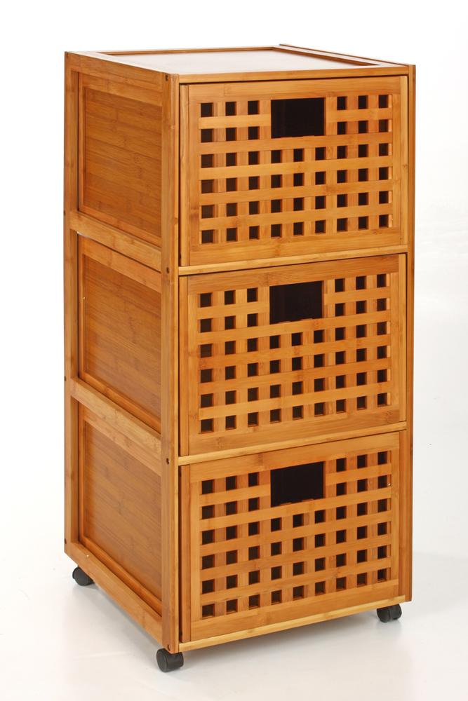 Armoire salle de bain bambou salle de bains rangement for Meuble salle de bain en bambou pas cher