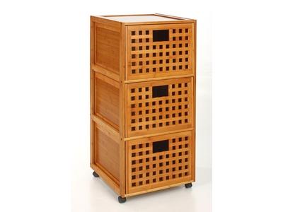 Meuble sdb 3 tiroirs Bambou