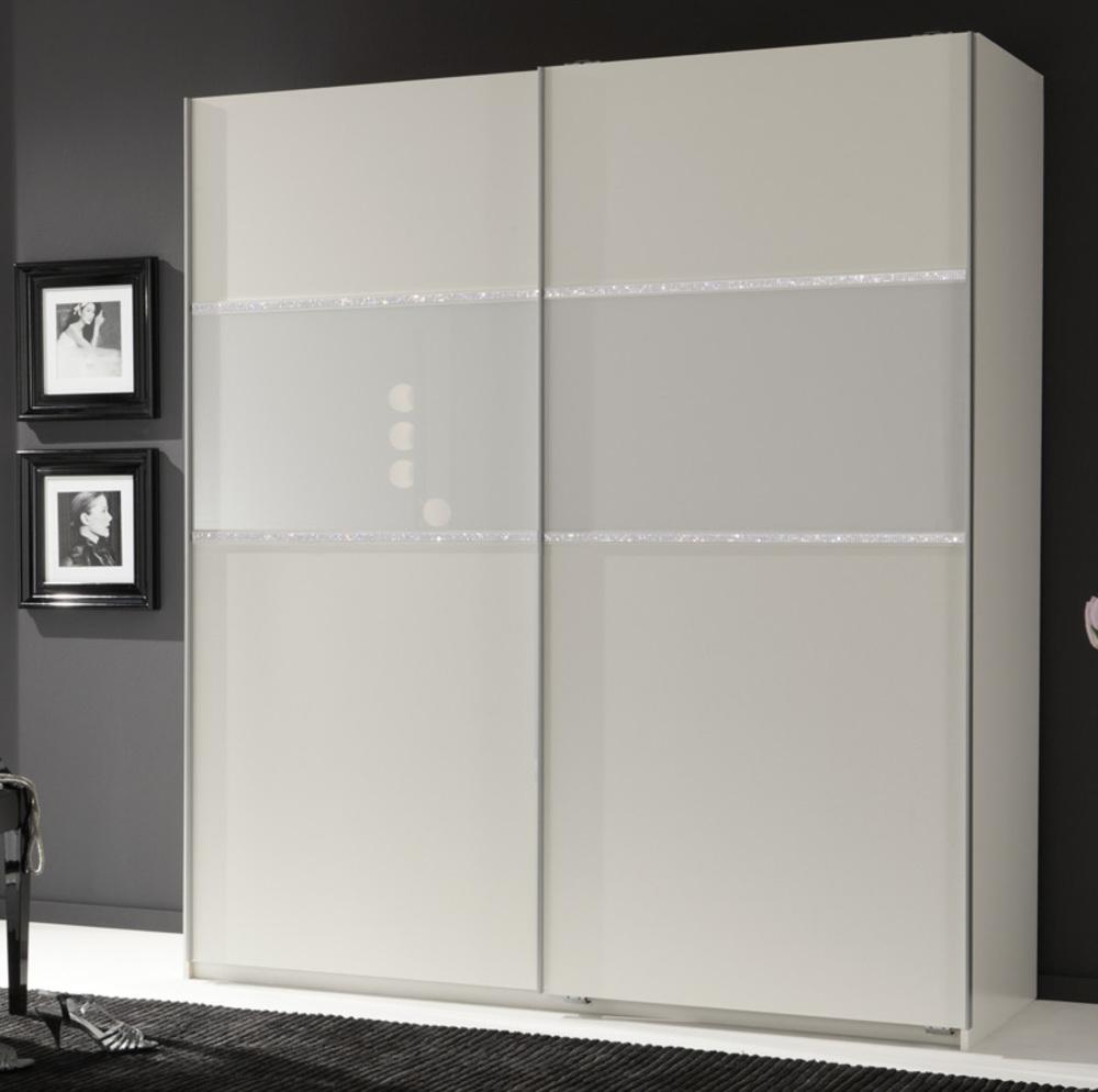 Armoire 2 portes coulissantes blitz blanc l 179 x h 198 x p 64 - Armoire chambre 2 portes ...