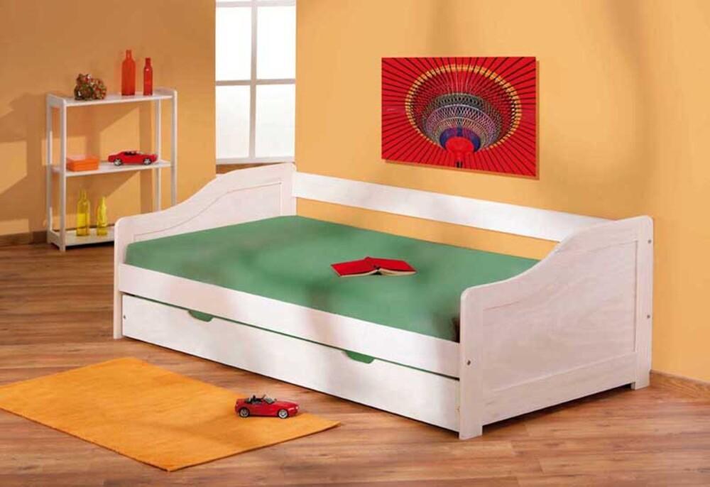 banquette lit leonie lasure blanc. Black Bedroom Furniture Sets. Home Design Ideas