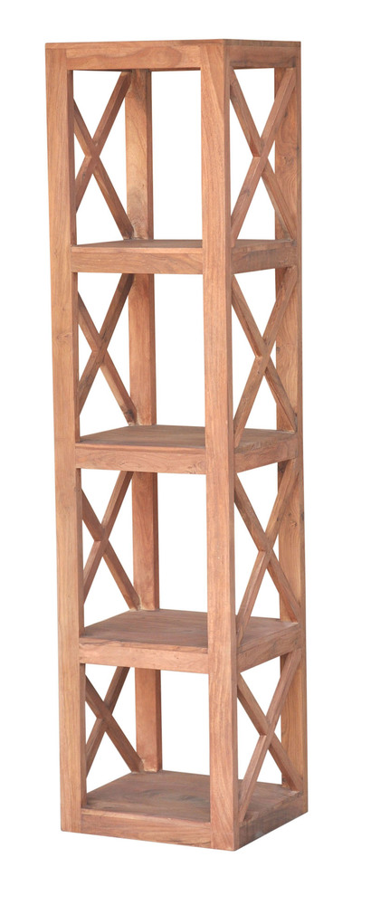 etagere 4 cases madura naturel l 40 x h 160 x p 35. Black Bedroom Furniture Sets. Home Design Ideas