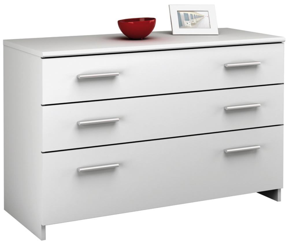 commode 3 tiroirs esther blanc. Black Bedroom Furniture Sets. Home Design Ideas
