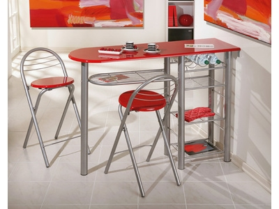 Ensemble table bar + 2 tabourets