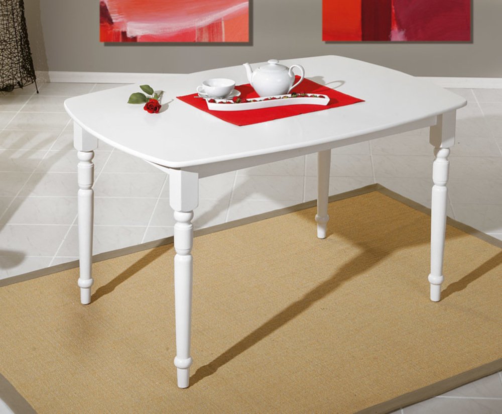 Table de repas amsterdam blanc for Table repas