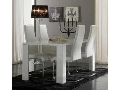 Table de repas Tania laque blanc