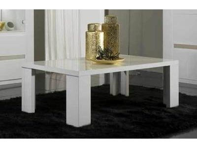 Table basse Tania laque blanc