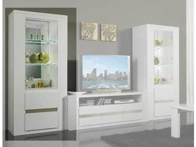 colonne tania laque blanc blanc alu. Black Bedroom Furniture Sets. Home Design Ideas