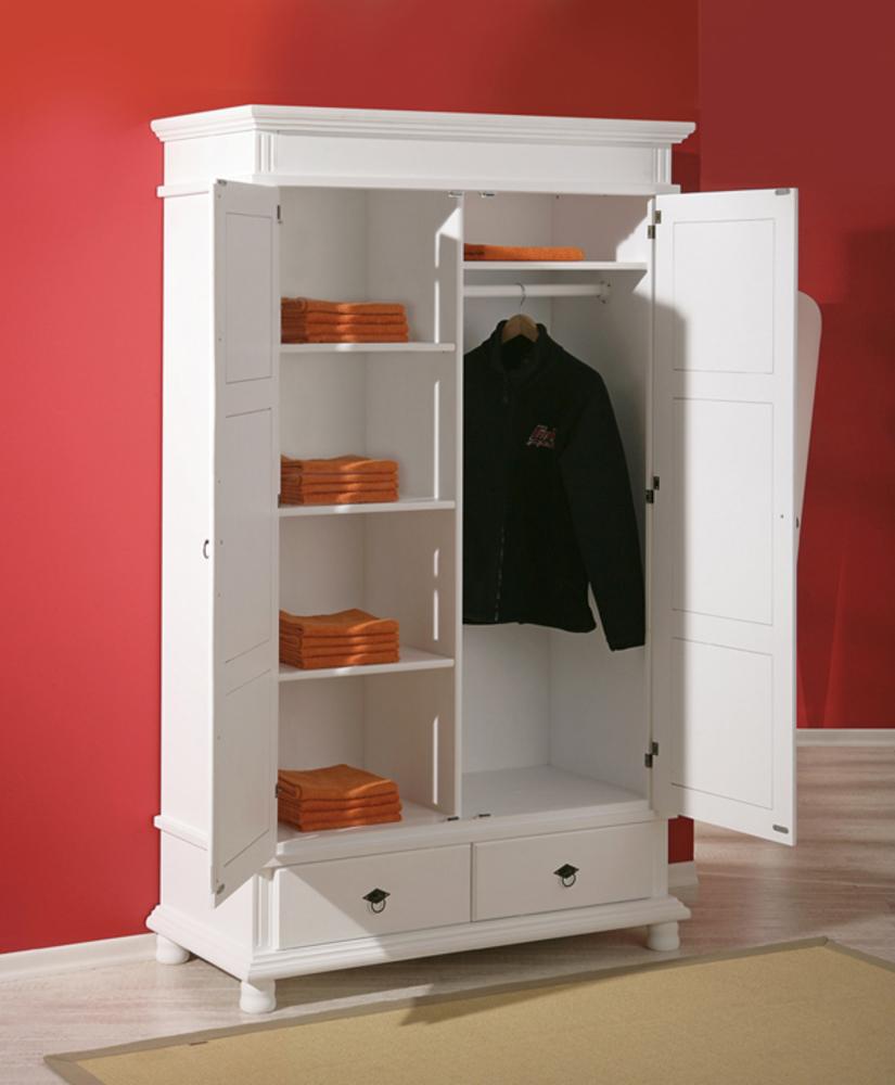 armoire 2 portes 2 tiroirs danz blanc. Black Bedroom Furniture Sets. Home Design Ideas