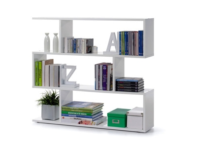 Etag re design finition blanc brillant snake for Petit bureau multimedia