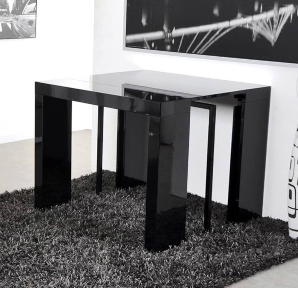 table console extensible algo noir. Black Bedroom Furniture Sets. Home Design Ideas