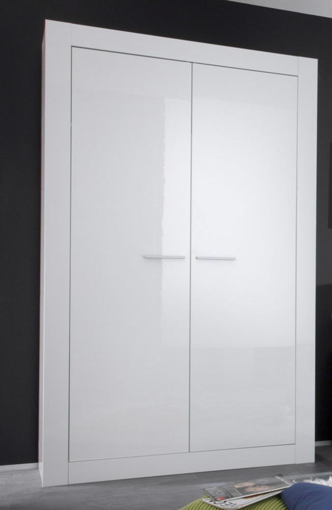 Armoire 2 portes amalfi chambre junior blanc brillant - Meuble armoire chambre ...