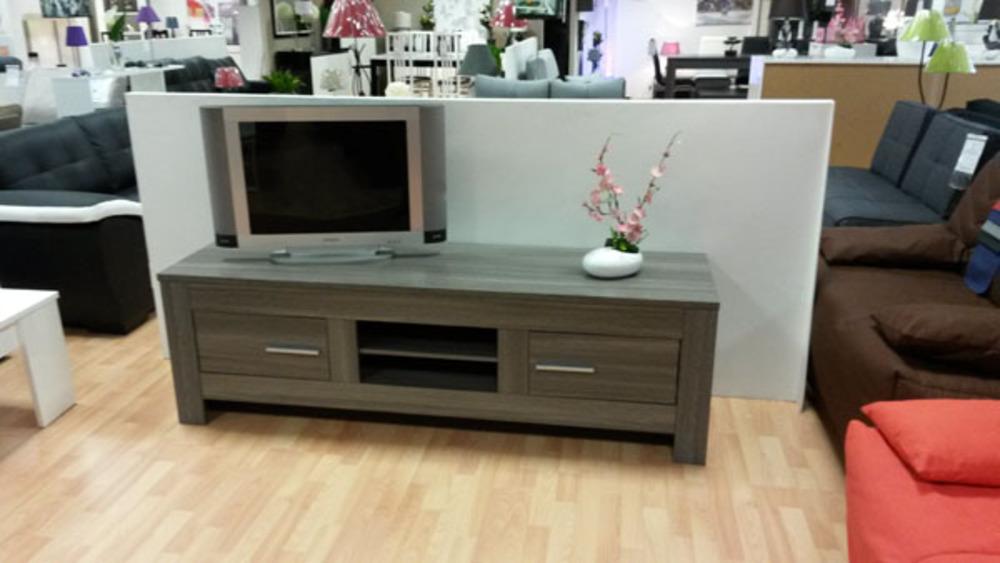 meuble tv portofino chene gris. Black Bedroom Furniture Sets. Home Design Ideas