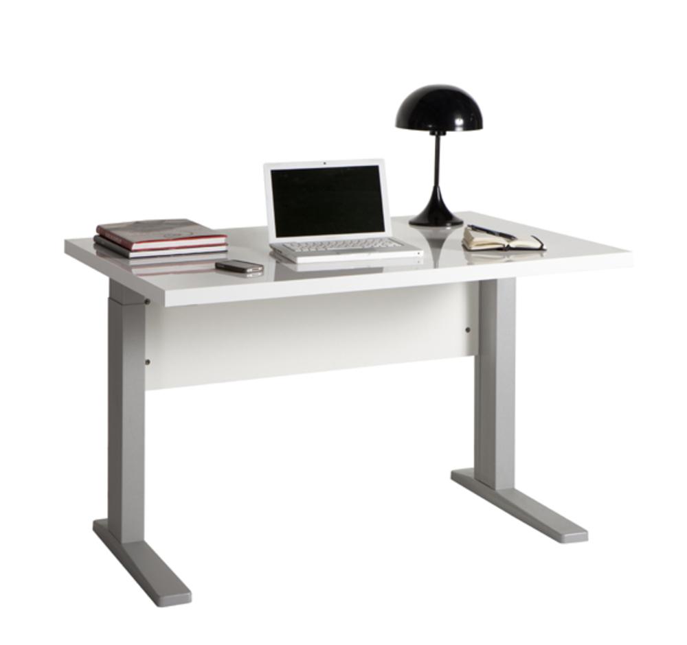 Bureau manager stampa blanc brillantl 120 x h 70 x p 80 for Meuble bureau 120