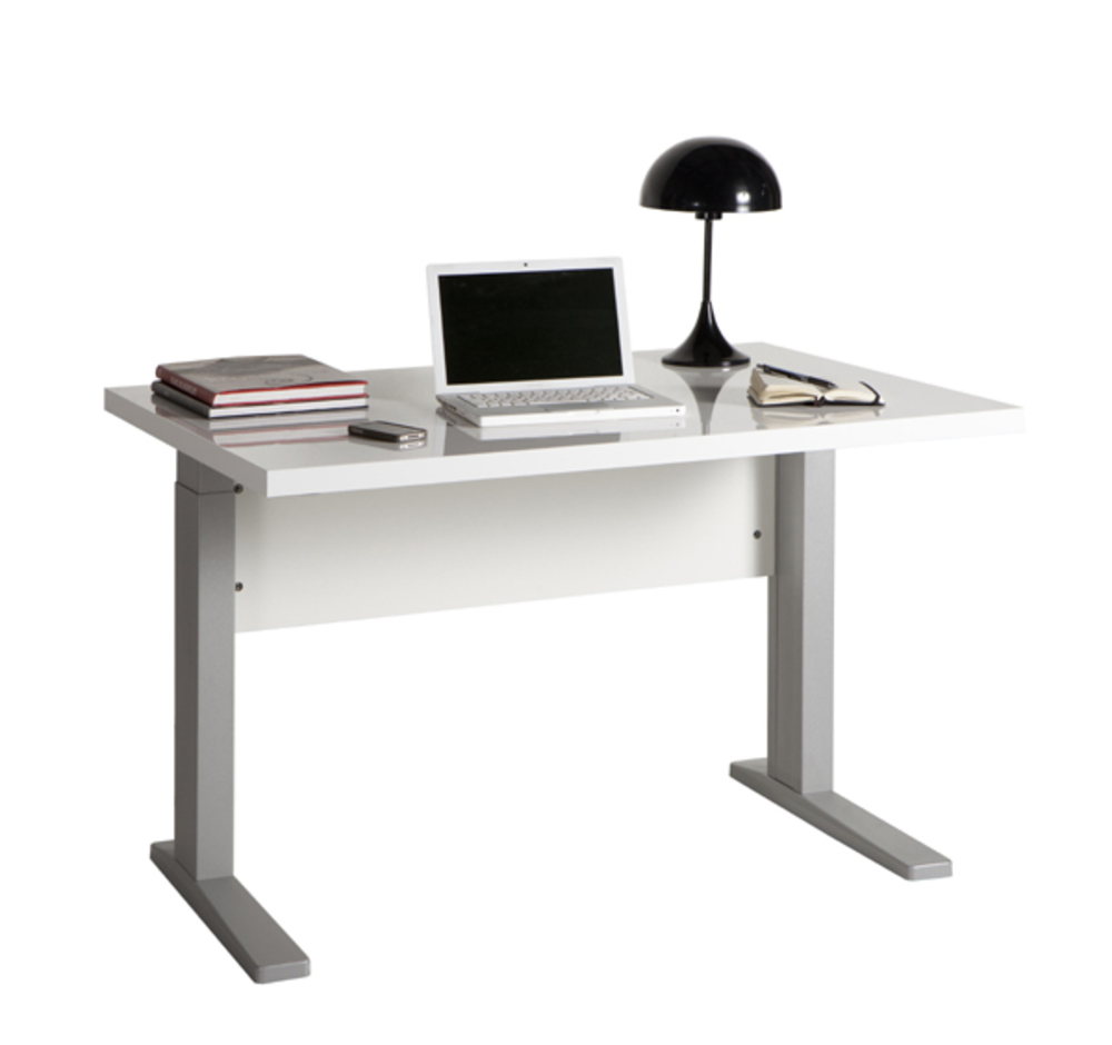 Bureau manager stampa blanc brillant l 120 x h 70 x p 80 for Meuble sa manger