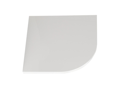 Tablette d'angle manager Stampa blanc brillant