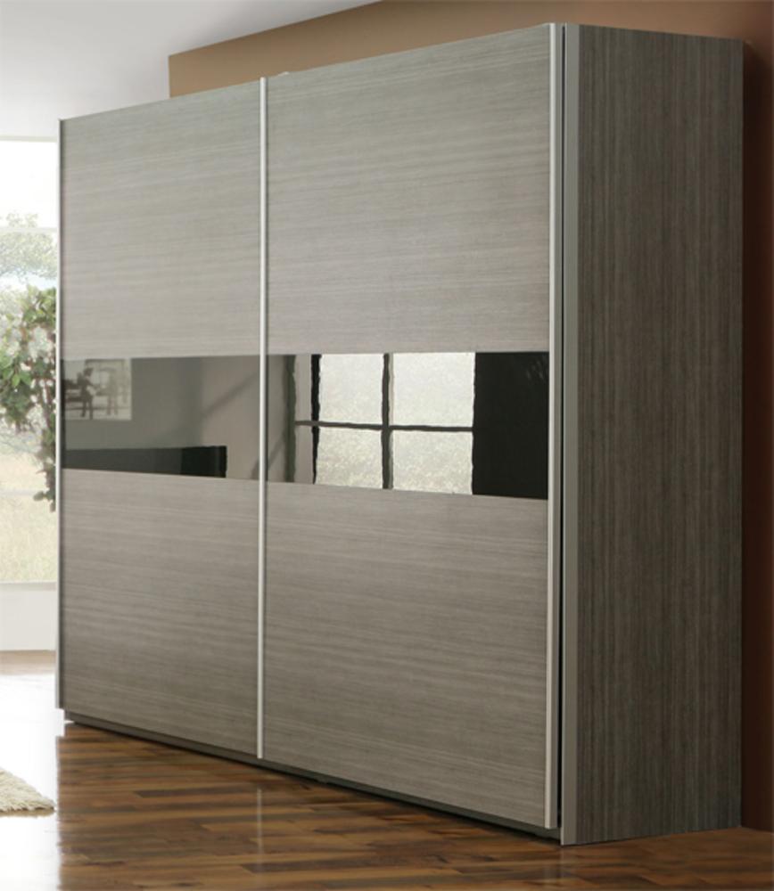 armoire 2 portes cellini gris. Black Bedroom Furniture Sets. Home Design Ideas